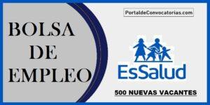 CONVOCATORIA PUBLICA Essalud PS 009-CAS-SCENT-2020