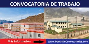 CONVOCATORIA DE TRABAJO PARA CAMPAMENTO MINERO