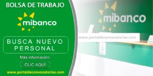 OFERTA DE TRABAJO PARA MIBANCO | AGOSTO 2020