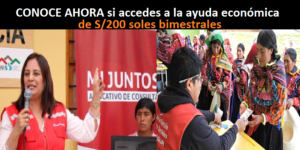 BONO DE S/100 SOLES ENTREGADO POR EL MIDIS
