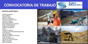 CONVOCATORIA DE PERSONAL San Martin Contratistas Generales S.A